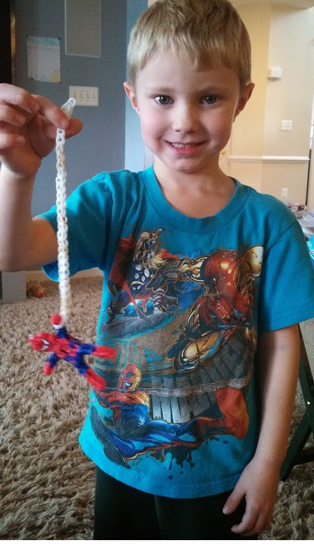 Spider-Man rubber band web